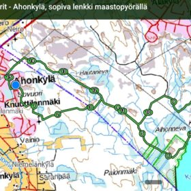 Paljukeisarit - Ahonkylä, soviva lenkki maastopyörällä