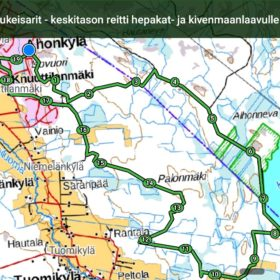 Paljukeisarit - Keskitason reitti bepakat - ja kivenmaanlaavulle